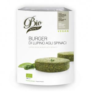 BURGER DI LUPINO AGLI SPINACI 180 GR - BIO APPETI