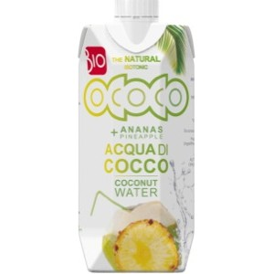 ACQUA DI COCCO ALL'ANANAS BIO 330ml - FIOR DI LOTO