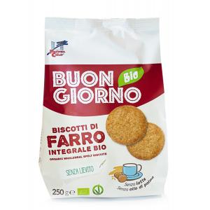 BISCOTTI DI FARRO INTEGRALE SZ/LIEVITO 250gr - LA