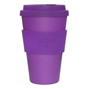 ECOTAZZA IN BAMBU VIOLA 400ml - ECOFFEE CUP