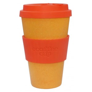 ECOTAZZA IN BAMBU ARANCIONE 400ml - ECOFFEE CUP