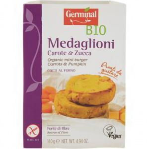 MEDAGLIONI CON CAROTE E ZUCCA 140 GR - GERMINAL