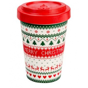 ECOTAZZA IN BAMBOO MERRY CRISTMAS 400 ML - WOODEN