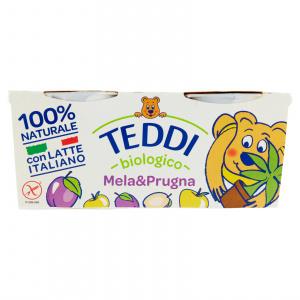 YOGURT TEDDI MELA E PRUGNA 2X115 GR - FATTORIA
