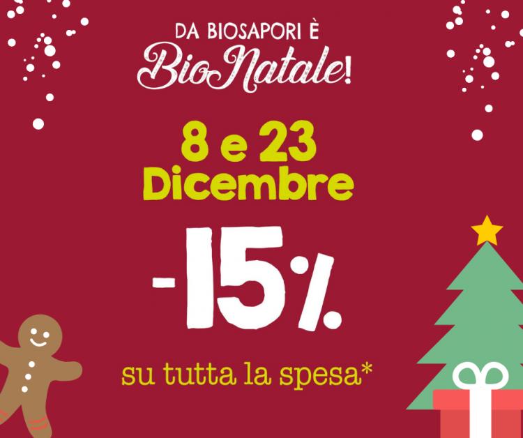 SCONTO 15% SU TUTTA LA SPESA