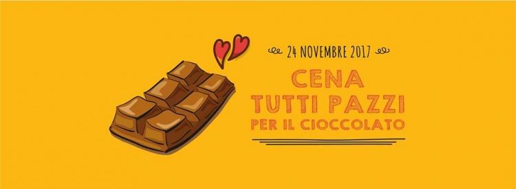 Cena a tema Tutti pazzi per il cioccolato! 24 novembre Biosapori Villorba