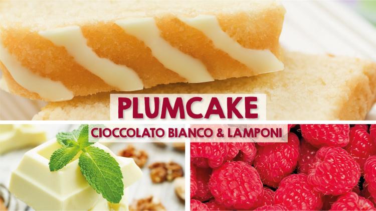 Plum Cake al cioccolato bianco e lamponi