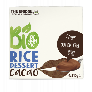 DESSERT RISO CACAO 4X110gr - THE BRIDGE
